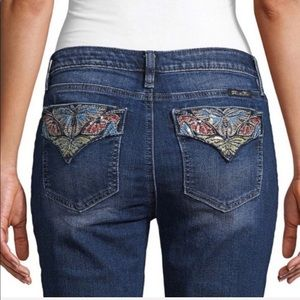Miss Me HOT 33 Sequined Butterfly Skinnies!